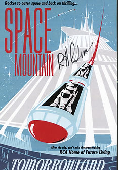 Disneyland Space Mountain Attraction Poster signed by Bob Gurr