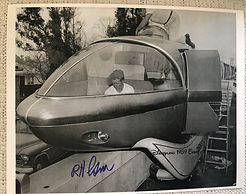 Disneyland Monorail Photo with Bob Gurr Posters, Signed By Bob Gurr