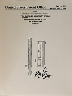 Disneyland Viewliner Patent Print signed by Bob Gurr