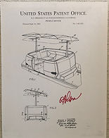 Disneyland People Movers Attraction Poster signed by Disney Legend Bob Gurr, People Movers Patent Print