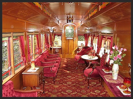 Disneyland Lilley Belle train Car inside Photo, taken by Carlene Thie
