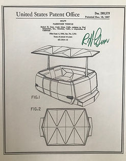 Disney Legend Bob Gurr, People Movers patent poster, signed by Bob Gurr