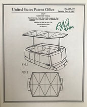 Disneyland People Movers Patent Posters, Signed By Bob Gurr