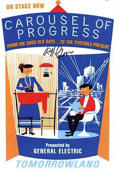 Disneyland Carousel of Progress Poster signed by disney Legend Bob Gurr