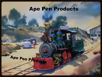 Disneyland Railroad E.P Ripley Vinate Photo coming out of the RoundHouse