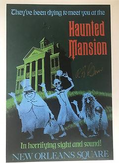 Disney Legend Bob Gurr, haunted Mansion Attraction Poster