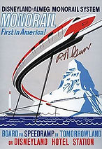 Disneyland Monorail Attraction Poster, Signed By Disney Legend Bob Gurr