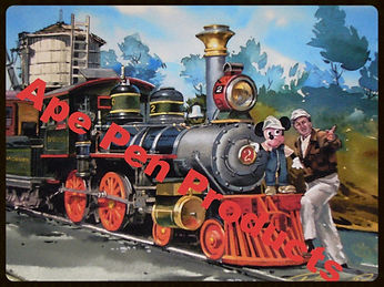 Disneyland Railroad E.P Ripley with Walt Disney & Mickey