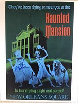 Disneyland , Haunted Mansion Poster, Monorail Patent Posters, Signed By Bob Gurr