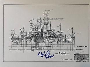 Disneyland Sleeping Beauty Castle Print signed by Disney Legend Bob Gurr