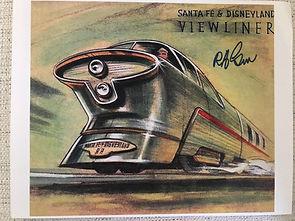 Disneyland Viewliner Attraction Poster