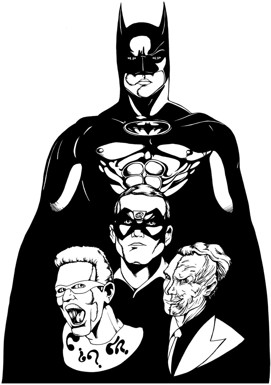 Batman Forever t-shirt art (1995)