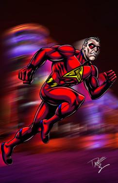 Golden Age Superhero Silver Streak