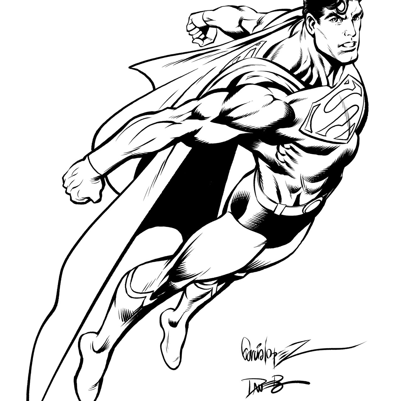 Superman inks by Dave Beaty
