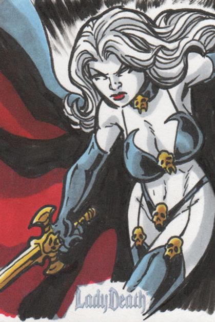 Lady Death sketch card