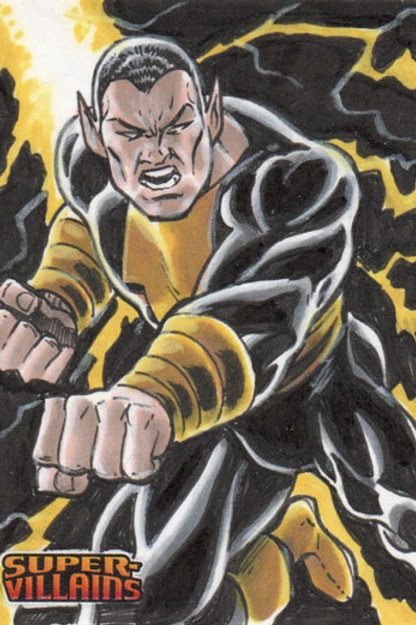 DC Comics Super Villain Black Adam sketch card