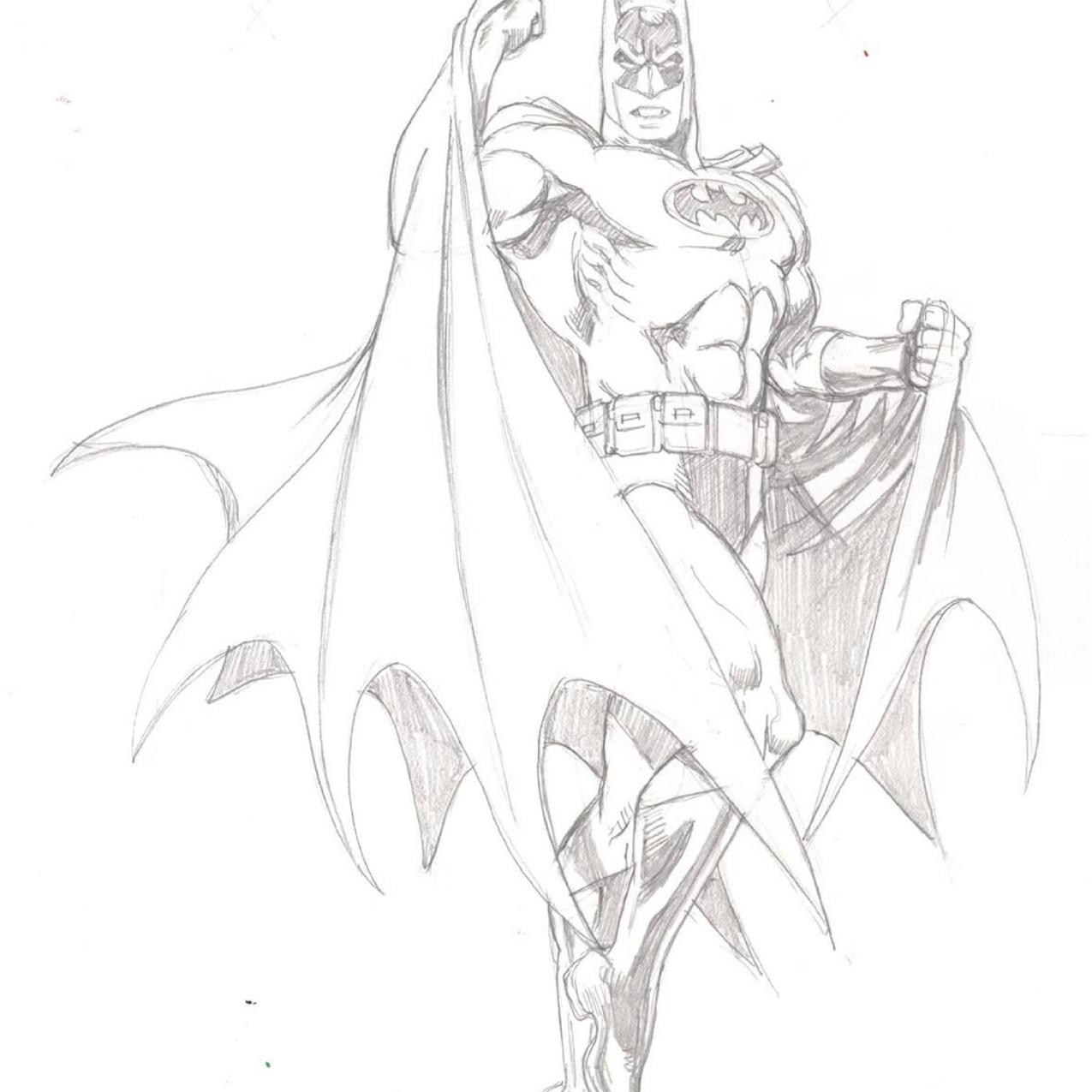 Batman pencils by Garcia Lopez