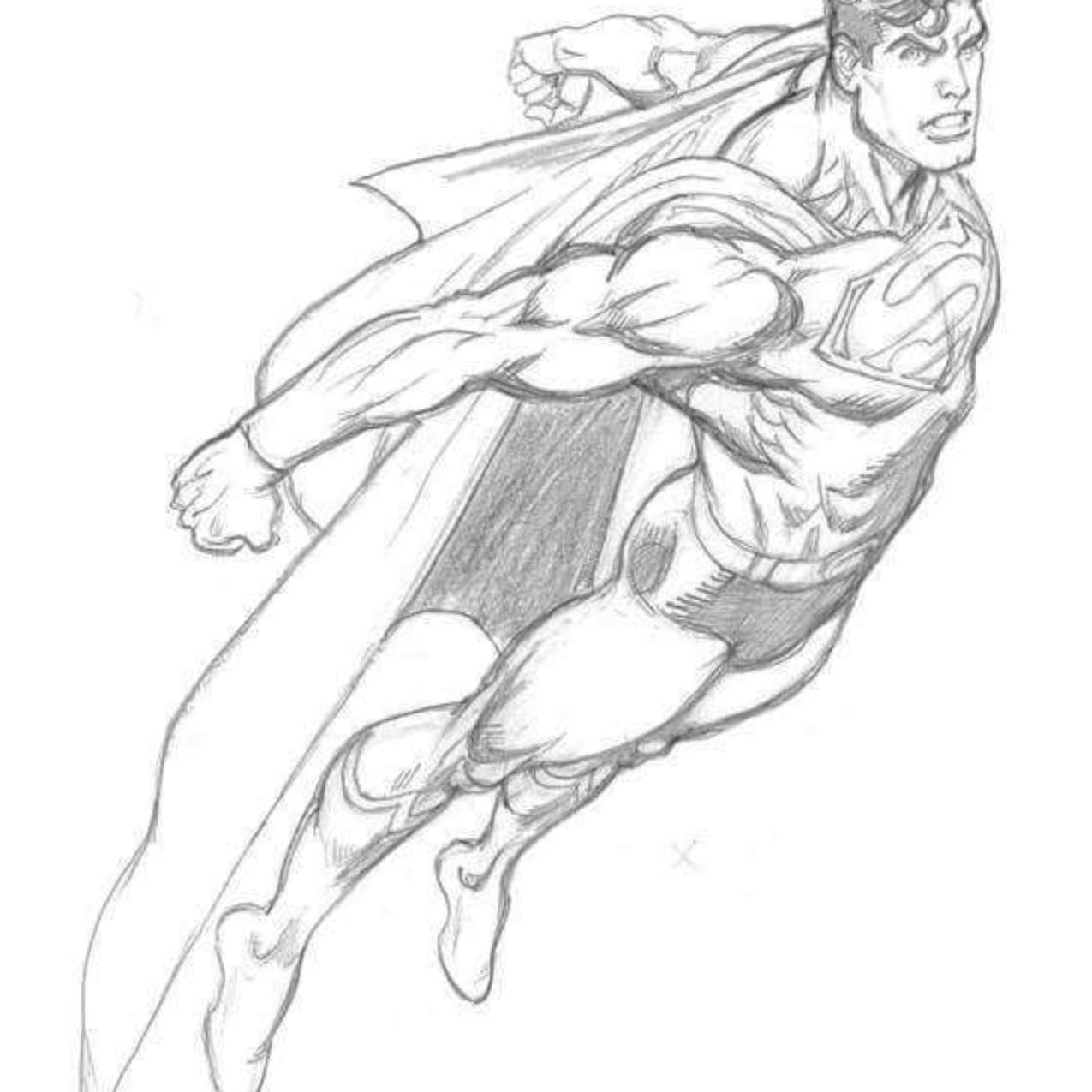 Superman pencils by Garcia Lopez