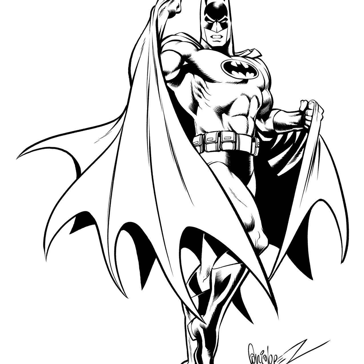 Batman inks by Dave Beaty