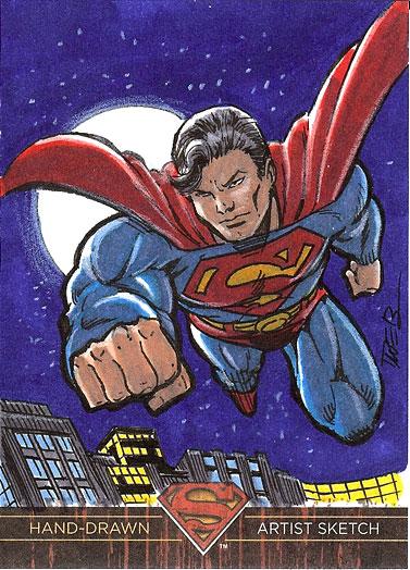 Superman on patrol