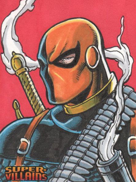 DC Comics Super Villains Deathstroke sketch card
