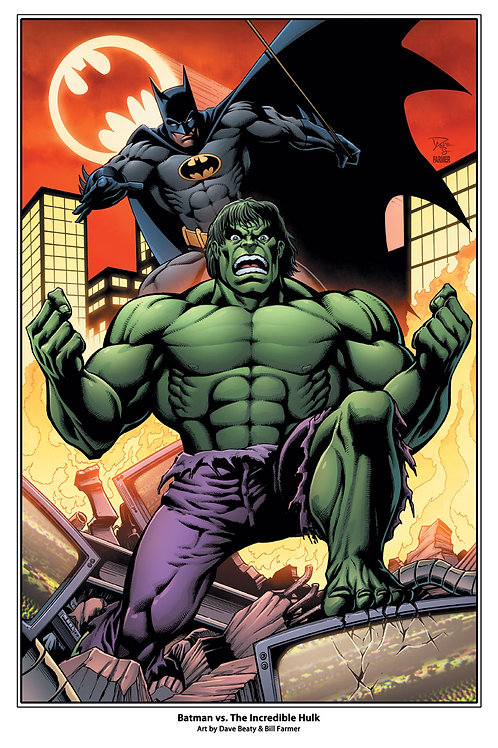 Batman vs. The Hulk Art Print