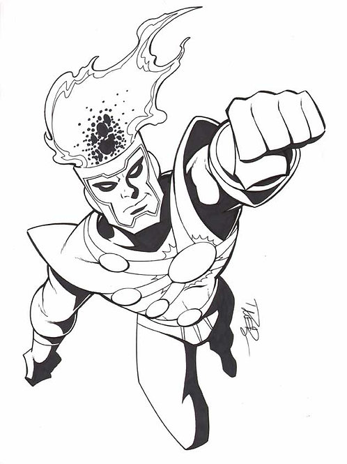 Animated Firestorm Sketch