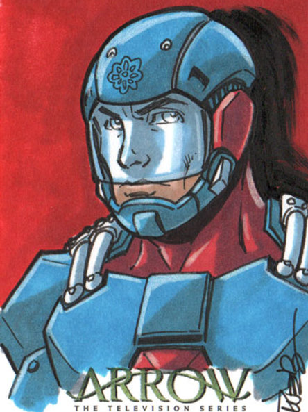 Arrow Season 4 Atom sketch card