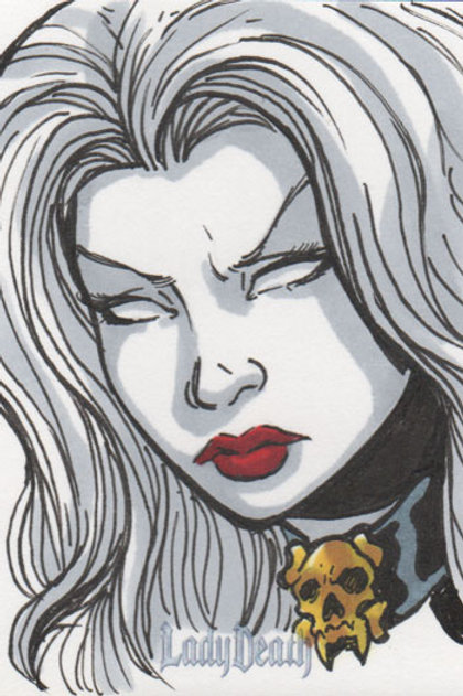 Lady Death sketch card