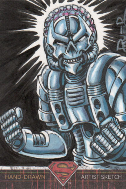 Superman The Legend Brainiac sketch card