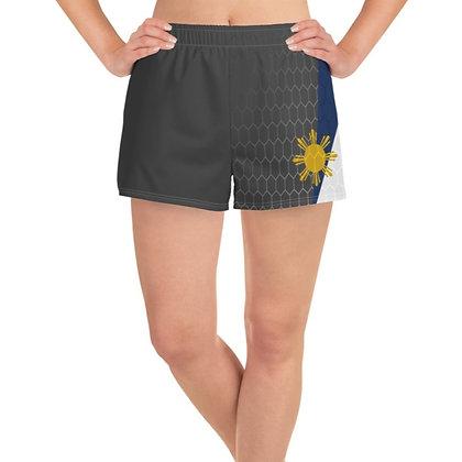 Philippines Flag Women's Athletic Long Shorts