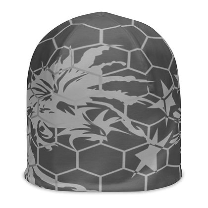 Fighting Rooster  Beanie (Light Gray and Gray)