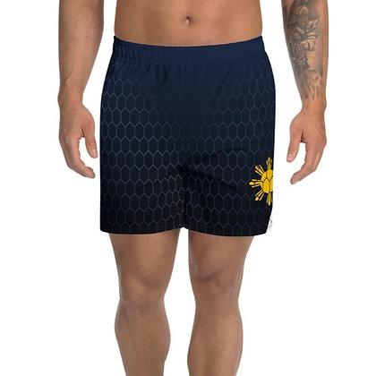 Philippines Flag Men's Athletic Long Shorts 3