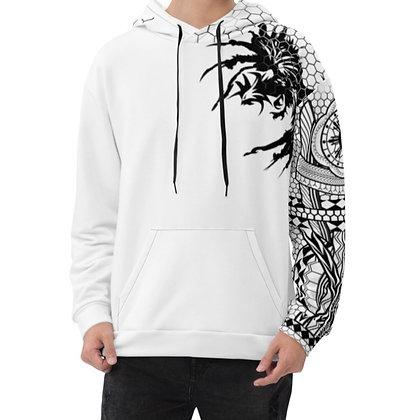 Unisex Hoodie, Modern Filipino Tattoo (Batok) Black on White