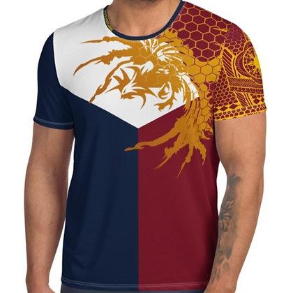 Modern Filipino Tattoo (Batok) Style All-Over Print Men's Athletic T-shirt
