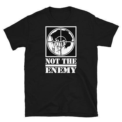 "Stop Asian Hate Short-Sleeve Unisex T-Shirt, ""#STOPASIANHATE"" across the back"