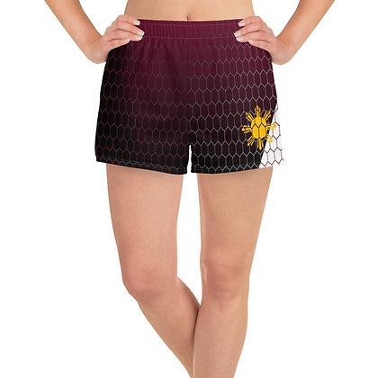 Philippines Flag Women's Athletic Long Shorts 2