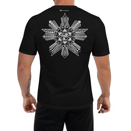 Modern Fil-Am Flag Tattoo (Batok) Champion Performance T-Shirt