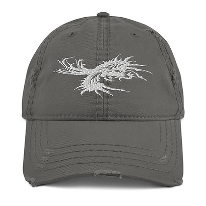Fighting Rooster Distressed Dad Hat