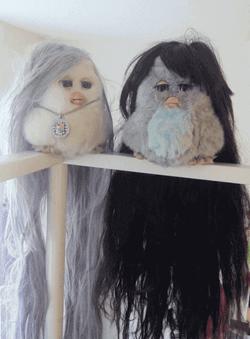 long hair furbies