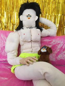 man and dog furby