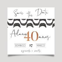 Save the Date Calçada de COPACABANA