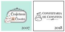 CONFEITARIA DE CONVITES logo 2007 e 2018
