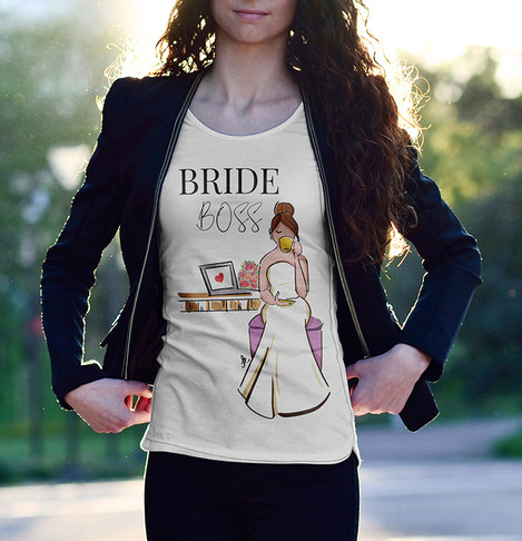 Ilustração para camiseta - assessoria de casamento