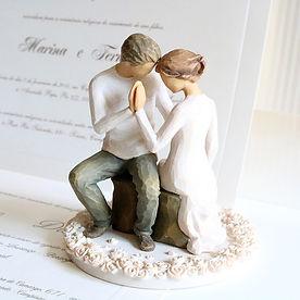 topo de bolo elegante importado casament