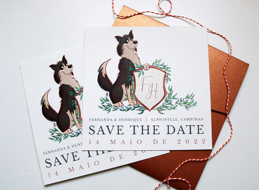 Save the Date - Border Collie