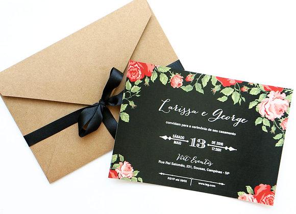 Convite de Casamento - Chalkboard