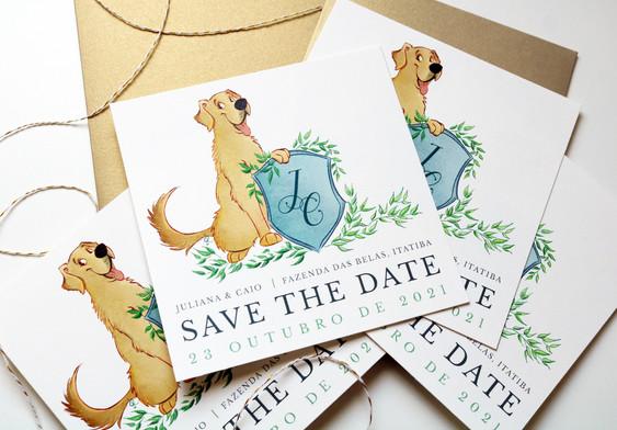 Save the Date - Golden Retriever