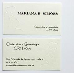 Cartão de Visitas para DRA. MARIANA SIMŌES