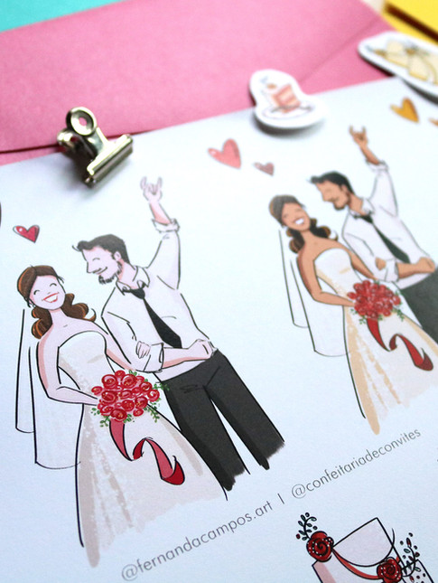 Desenho de casamento para CLIPART
